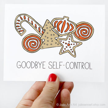 Christmas Card - Goodbye Self-Control