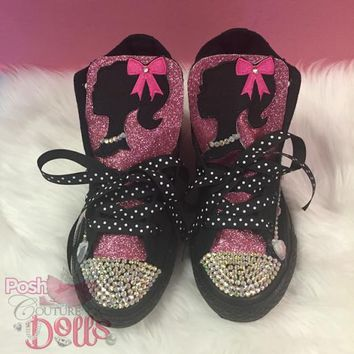 Barbie Inspired Custom Bling Converse