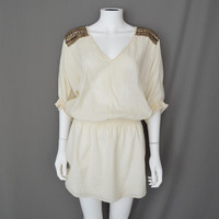 Tibi Winter Off White Goddess Dress Gladiator Athena Roman Toga Dress Cotton 4