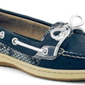 Sperry Top-Sider Angelfish Python Boat Shoe NavyPython, Size 10M  Women's Shoes