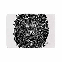 "Adriana De Leon ""The Leon"" Lion Illustration Memory Foam Bath Mat"