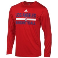 Youth Los Angeles Clippers adidas Red Practice ClimaLITE Long Sleeve T-Shirt