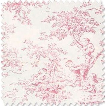 Baby Toile-Pink Fabric By The Yard | 100% Cotton