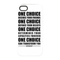 Divergent - One Choice Quote iPhone 5/5S Tough Cas