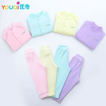 YOUQI 2 Sets Baby Boys Clothes Girls Clothing Set Toddler Infantil Pajamas Top Pants Suit 3 6 Months Spring Autumn Baby Clothes