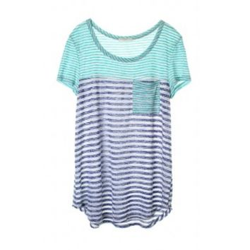 Tiffany Stripe Tee - Mint