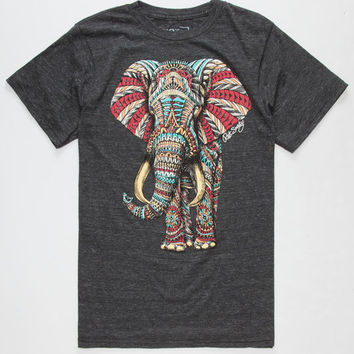 RIOT SOCIETY Ornate Elephant Mens T-Shirt