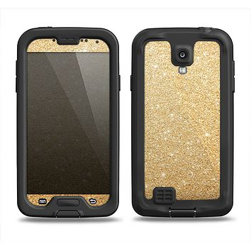 The Gold Glitter Ultra Metallic Samsung Galaxy S4 LifeProof Fre Case Skin Set