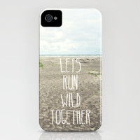 lets run wild together iPhone Case by Sylvia Cook Photography   Society6
