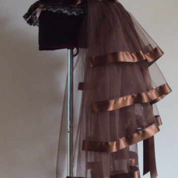 Brown Burlesque Steampunk Bustle Belt size US 2 4 6 8  10 UK 6 8 10 12 14