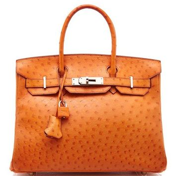 Hermes 30Cm Tangerine Ostrich Birkin by Heritage Auctions Special Collection - Moda Operandi