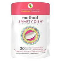 Method Smarty Dish Dishwasher Detergent Tabs Pink Grapefruit 20ct