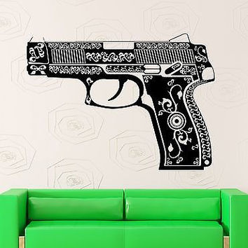 Wall Stickers Vinyl Decal Pistol Gun Weapon Pattern Mafia War (ig1814)
