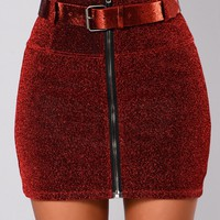 It's Only Right Skirt - Red/Black