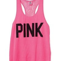 PINK Lace-back Yoga Tank - Victoria's Secret Pink® - Victoria's Secret