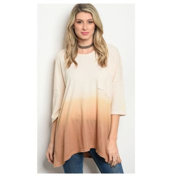 Adorable Hooded Ombre' Sweater Top
