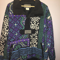 Vintage 1980s 1990s Vision Vibrant Patterned Windbreaker
