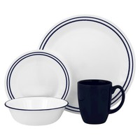 Corelle Livingware Blue Beads Dinnerware Set 16pc