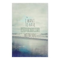 Ocean, beach poster print with typography from Zazzle.com