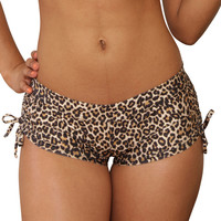 Cheeky Tie Side Leopard Print Shorts- Sassy Assy