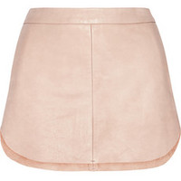 Mason by Michelle Mason Textured-leather mini skirt – 60% at THE OUTNET.COM