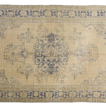 7.5x12 Vintage Distressed Oushak Carpet