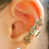 Bronze Quiver And Arrows Ear Cuff