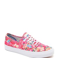 Vans Multi Floral Authentic Slim Sneakers - Womens Shoes - Floral -