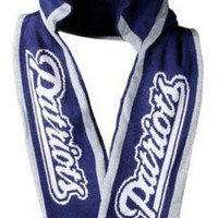New England Patriots 2011 Team Stripe Hooded Knit Scarf w Pockets