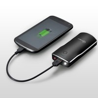 New Trent: iTorch 5200mAh Ultra Portable USB Port External Battery Charger/Power Pack for Smartphones and more (w/built-in laser + flashlight)