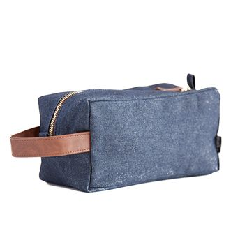 Indigo Denim Canvas Travel Case