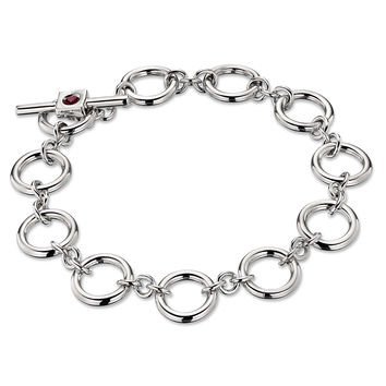 Round Open Circle Link Toggle Bracelet