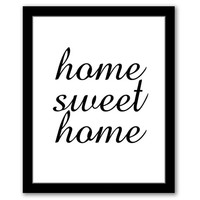 INSTANT DOWNLOAD, Home Sweet Home, Printable Art, Entryway Art, New Home Gift, Housewarming Gift, White & Black, Typography Art, Home Quote