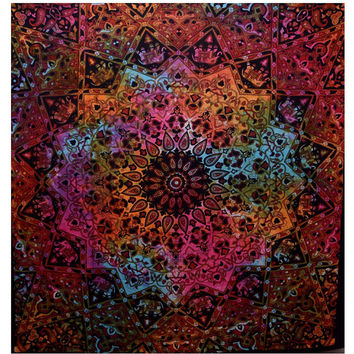 Red Watercolor Mandala Tapestry : Tie Dye, Tapestry, Wall Decoration, Dorm Decor, Wall Hanging, Tapestry, Boho, Hippie