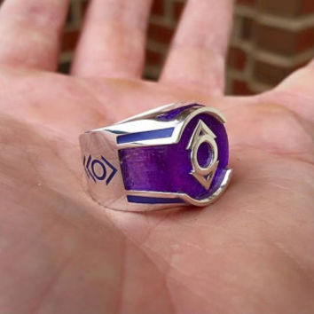 Custom Made to order Indigo Tribe Ring inspired ring made from Sterling Silver and High Impact Resin.