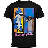 Regular Show - Two Bright Black T-Shirt