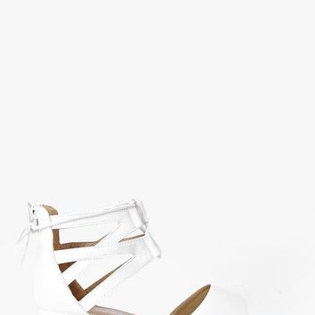 Leah Lace Up Two Part Cleated Sandal | Boohoo