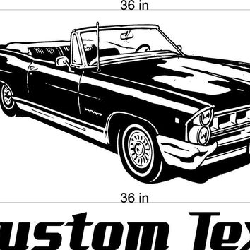 Convertible Pontiac Car Wall Decals Stickers Man Cave Boys Room Decor 3 FEET Wide