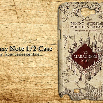 Galaxy Note Case The Marauders Map HARRY POTTER Samsung Galaxy Note, Galaxy Note 2 II Hard Case Cover Casing