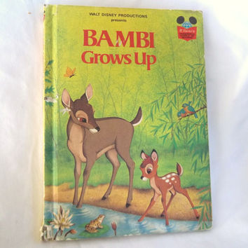 Childrens Book Vintage Bambi Grows Up