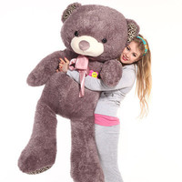 "Giant 57"" Big Plush purple Teddy Bear Huge Soft Toy Gift 145cm"
