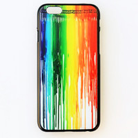 iPhone 5 Case Cover Crayon Rainbow iPhone 5s Back Cover Hard Case iPhone Design Case Cute