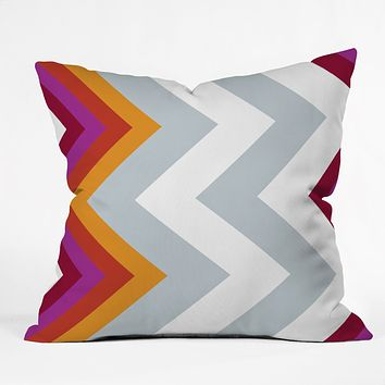 Karen Harris Modernity Solstice Warm Chevron Throw Pillow