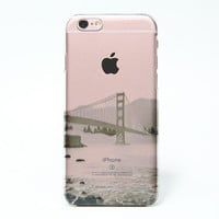 Golden Gate Bridge San Francisco California USA iPhone 6s plus Clear Case iPhone 6 Cover iPhone 5S 5 5C Hard Transparent Case C0009