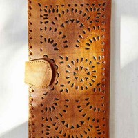 Cleobella Mexicana Painted Leather Wallet- Brown One