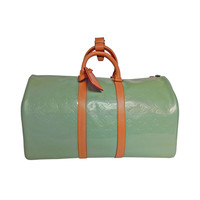 Mint Green/blue Louis Vuitton Vernis Leather KeepAll Size 45