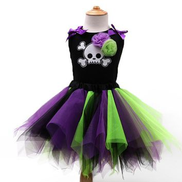 2017 Summer Kids Girls Dresses Halloween Baby Girl Kid Clothes For Toddler Girl Dress Casual Cotton Tutu Dress Children Costume