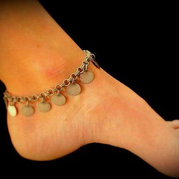 Anklet-Dangling Antique Silver Coins