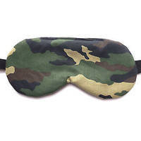 Camo Sleep Mask Men Blindfold Boy Eye Shade Kid Night Camouflage Travel Cover
