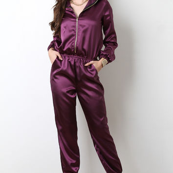 Satin Jogger Jumpsuit
